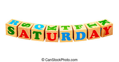Saturday Wooden Blocks