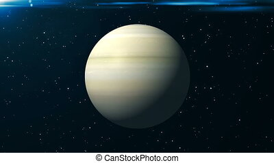 Saturn animation background. 3d rendering