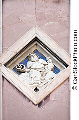 Saturn by Collaborator of Andrea Pisano, Relief on Giotto ...