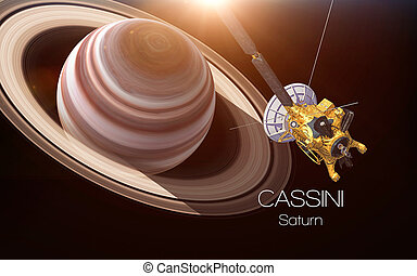 Saturn - Cassini spacecraft. This image elements furnished...