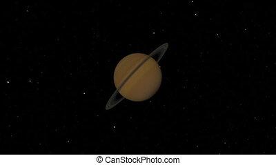 Saturn Flyby. CG. hd