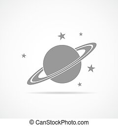 Saturn planet icon. Vector Illustration