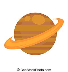 Saturn planet isolated on white graphic vector poster