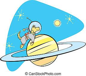 saturno, spacedog