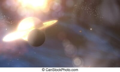 Saturn's Rings to Moon Enceladus - Zoom through Saturn's ...
