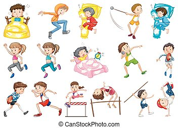 satz, aktivität, alltaegliches, kinder