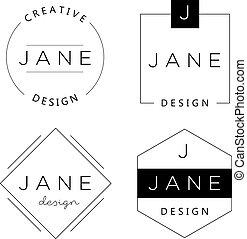 satz, branding., persönlich, elemente, grundwortschatz, logo, templates.