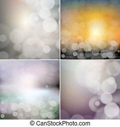 satz, effect., groß, abstrakt, hintergruende, abbildung, bokeh, vektor, blurry
