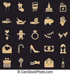 satz, einfache , stil, prämie, heiligenbilder