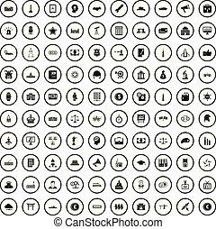 satz, einfache , stil, regierung, heiligenbilder, 100