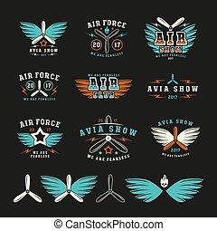 satz, emblem, heiligenbilder, weisen, luftwaffe