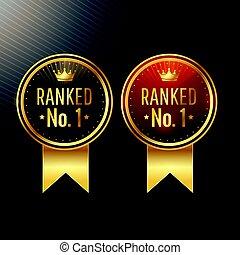 satz, etiketten, zwei, farben, ranked, no.1