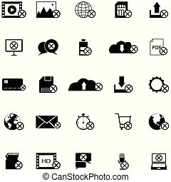 satz, fehler, ikone