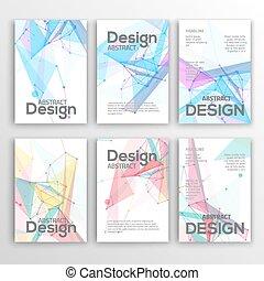 satz, flieger, abstrakt, modern, dreieckig, design,...