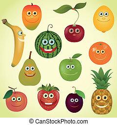 satz, früchte