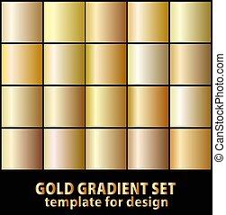 satz, gold, abbildung, vektor, gradients, design., dein, bestand
