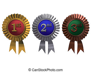 satz, gold, bronze, hintergrund, weißes, silber, medaillen