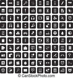 satz, heiligenbilder, beweglich, app, schwarz, 100