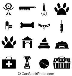satz, hunde ikone
