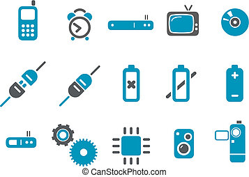 satz, ikone, elektronisch