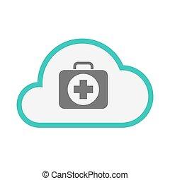 satz, ikone, freigestellt, hilfe, wolke, zuerst