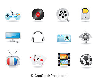 satz, ikone, unterhaltung