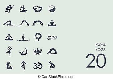 satz, joga, heiligenbilder