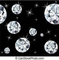 satz, juwelen, auf, a, seamless, hintergrund., vektor