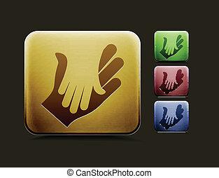 satz, karten geben, ikone