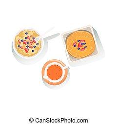 clipart vektor von fruehstueck satz karikatur klassisch satz pfannkuchen csp13768050. Black Bedroom Furniture Sets. Home Design Ideas