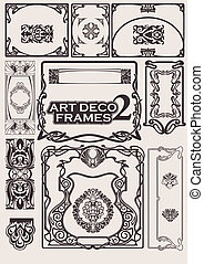 satz, kunst, frames., deco, portfolio., andere
