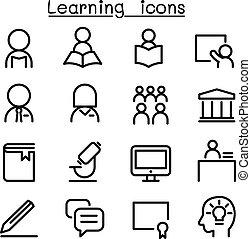 satz, lernen, ikone