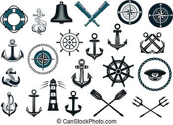 satz, nautisch, heiligenbilder