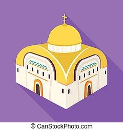 satz, orthodox, zeichen., web., vektor, design, kirche, kapelle, symbol, bestand