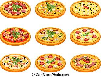 satz, pizza, heiligenbilder