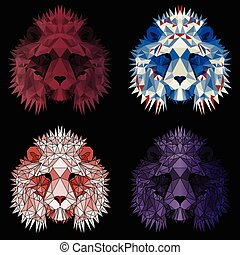satz, polygonal, loewen, vier