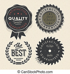 satz, prämie, weinlese, etiketten, qualität, garantie