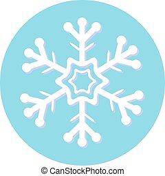satz, schneeflocken, abbildung, vektor, weihnachten, design.