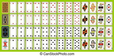 satz, spielende , karten.