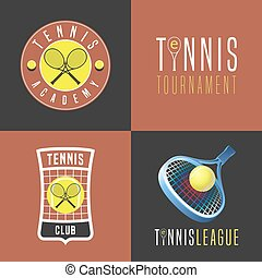 satz, tennis, emblem, symbol, vektor, ikone, sport, abzeichen, logo