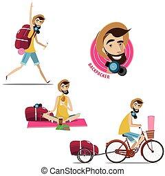 satz, von, backpackers