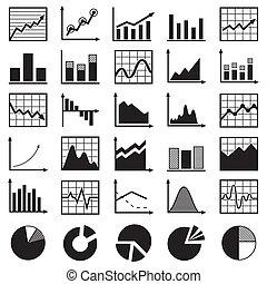 satz, von, diagramme, und, schaubilder, vektor