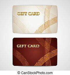 satz, von, geschenk, karten