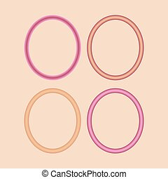 satz, von, rotes , und, rosa, frames.
