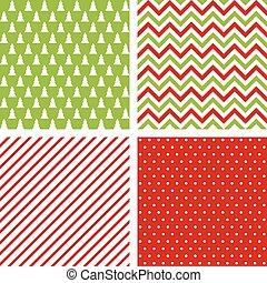 satz, von, seamless, abstrakt, patterns., weihnachten, hintergruende