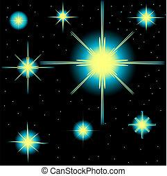 satz, von, vektor, sternen