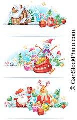 satz, von, weihnachten, banner