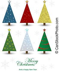 satz, von, weihnachtsbäume