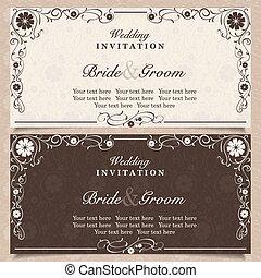 satz, wedding, blume, einladung, karten, orchidee
