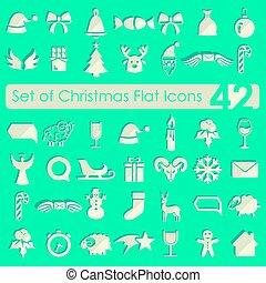 satz, weihnachten, heiligenbilder